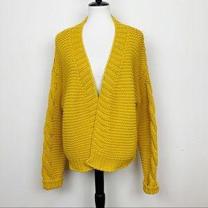 VICI Marigold Yellow Knit Cardigan Size Medium